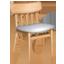Icon eines braunen Stuhls mit weißem Polster, der Qualität der Möbel repräsentiert.